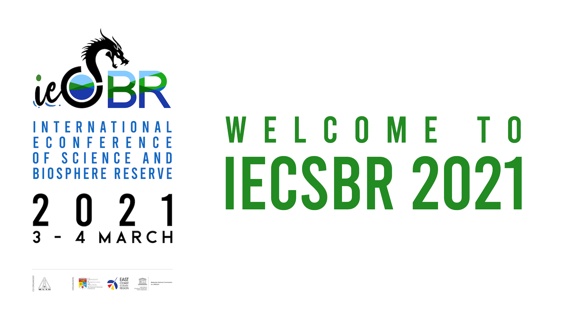 IECSBR 2021 Special Session – Late Presenters
